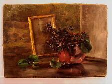 Schönes original altes Blumen Ölgemälde um 1910