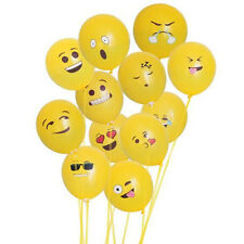 100PCS Birthday Party Latex Balloons 12-Pack Emoji Sources Smile Face Decoration