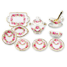 Reutter Porzellan Dinner Service Ribbon Roses Set Band Dollhouse 1:12