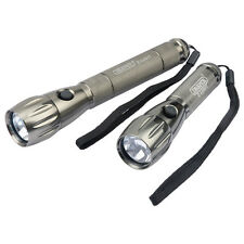 Draper 05588 Twin Pack LED Torches  water & impact-resistant inc Batteries