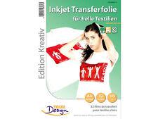 Your Design 32 T-Shirt Transferfolien für weiße Textilien A4 Inkjet
