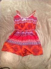 Ladies size 8 Multi Coloured Patterned Playsuit