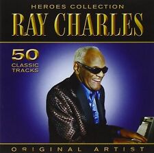 RAY CHARLES ~ 50 CLASSIC TRACKS **** BRAND NEW SEALED 2CD **** HEROES COLLECTION