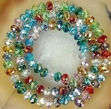 72 Pcs Faceted Rondelle Mixed Crystal AB Glass Beads SIZE 8mm