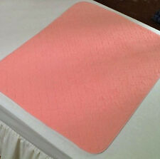 Twin Pack Washable Bed Pads incontinence - Bed Wetting - 2Ltr 85x90cms Pink