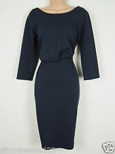 BNWT Savoir Midnight Blue Wiggle Pencil Dress Size 24 Stretch RRP £44