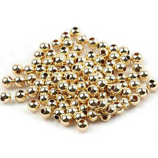 1000×Gold Round Metal Plated Ball Beads Loose Craft Spacer Jewellery Making 4mm