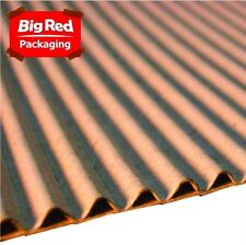 600mm x 10m Single Face Brown Corrugated Cardboard Roll NEW