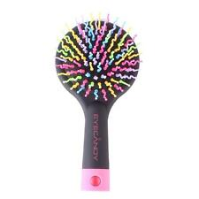 Pro Large Bristle Healthy Hair Brush Scalp Massage Hairbrush Salon Comb + Mirror