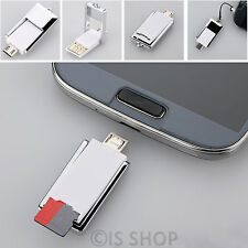 2 In 1 Micro USB MicroSD TF Card Reader OTG Adapter For Samsung Galaxy S3 HTC