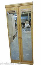 NEW hand made   pine wardrobe mirror&shelve  bedroom furniture birmingham