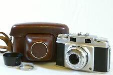 Agfa Super Silette 35mm Rangefinder Camera f3.5 45mm with Case & Lens Hood