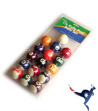 EYECUE 16pc 1 7/8 Inch Kelly Pool Ball Set