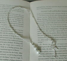 White Pearl Crystal Glass Beads Guardian Angel Bookmark