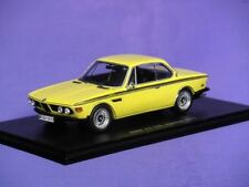 BMW 3.0 CSL INJECTION 1973 ROAD CAR SPARK S1578 1:43 NEW YELLOW FINE RESIN MODEL