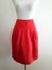Wardrobe Colour! Country Road size 4 red silk blend skirt in excellent condition