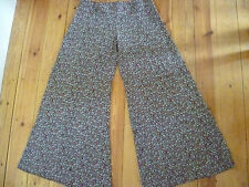 RIVER ISLAND UK8 LADIES LONG FLORAL CULOTTE STYLE TROUSERS  EXCELLENT CONDITION