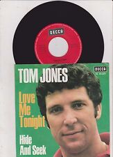 "Tom Jones - Love Me Tonight - 7""Single von 196?"