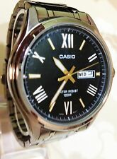 Casio  Mens Black Dial Stainless Steel Bracelet Watch MTP-1377D-1AVEF
