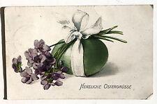 26054 tolle AK Herzliche Ostergrüße Osterei mit Blumen 1914