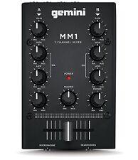 Gemini MM1 DJ Mixer 2 Channel Disco Sound Deck *Torn Box*