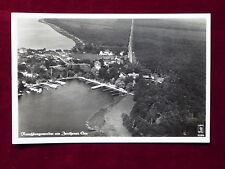 Ansichtskarte Rauchfangswerder am Zeuthener See, Luftbildaufnahme um 1937
