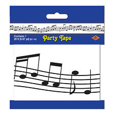 Musical Note Printed Plastic Banner - 6m - Music Notes Tape - Party Decoration