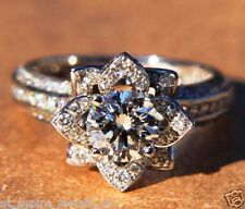 1.5 CT G/SI1 ROUND CUT DIAMOND SOLITAIRE ENGAGEMENT RING 14K SOLID WHITE GOLD