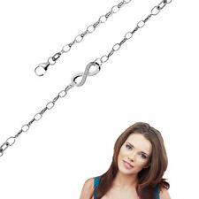 Fusskette  Infinity mit Zirkonia Steinen , 925er Sterling Silber-NEU