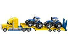 SIKU Truck with 2 New Holland Tractors 1:87 Scale * die-cast toy model * NEW