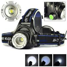 5000LM Zoom XML T6 LED 18650 Headlamp Torch Headlight Rechargeable Head Lamp BS