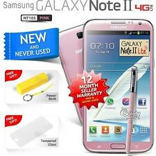 New Sealed Unlocked Samsung Galaxy Note 2 N7105 Pink 4G LTE Android Smartphone