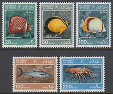 Oman 1985 ** Mi.285/89 Meerestiere Marine Creatures Animals Fische Fishes Fauna