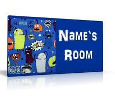 PERSONALISED DOOR SIGN / NAME PLAQUE - next`s MONSTERS  FREE P&P