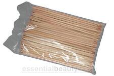 """100 cuticle manicure orange sticks 6"""" long nail art"""