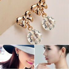 New Women Lady Cute Jewelry Elegant Rhinestone Hook Drop Ear Stud Earrings