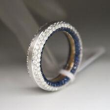 Ring / Memoirering mit 1,57ct Brillant TW-vsi und 1,02ct Saphir in 750/18K Gold