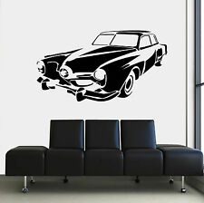 antique Car old retro  Quote Wall Vinyl Stickers Art room Removable Decals DIY