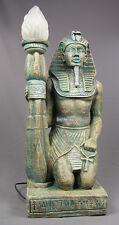 ÄGYPTISCHER GOTT ÄGYTER LAMPE LEUCHTE FIGUR STATUE SKULPTUR MÖBEL DEKORATION NEU