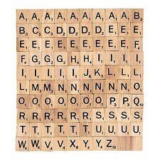 100 x wooden Scrabble Tiles letters Pendants Craft 1 Complete Set SALE#