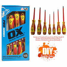 Electrical Screwdriver Set 7pc Insulated Magnetic Tip Electric Electrician Tools
