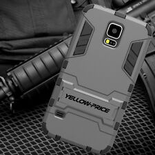 Samsung Galaxy S5 Case Defender Hybrid Armor [Heavy Duty Cover + Built-In Stand]