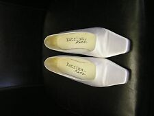 New white satin court shoes size 7