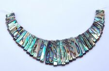 g1585 Abalone shell graduated loose beads pendant beads set
