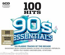 100 HITS 1990S ESSENTIALS MUSIC COLLECTION NEW 5 CD ALBUM ALL ORIGINAL ARTISTS