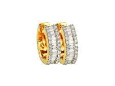 Echtschmuck Ohrschmuck Creolen Diamanten 18 K 750er Gelbgold 0,75 Karat Neu