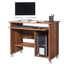 Germania Computertisch walnuss Rollen Schreibtisch Büro Tisch Büromöbel Computer
