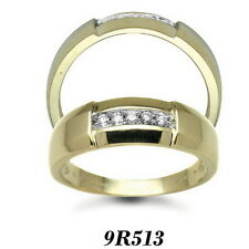Finest 9 carat White Gold 13pts Gents 5 Stone Diamond Engagement Ring AT/9R513