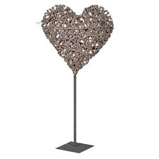 Extra Large Rattan Heart or Metal Stand Wicker Wood Rustic Wooden Wedding