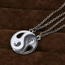 HOT Yin Yang Black White Pendant Necklace Couple Sister Friend love Jewelry Gift
